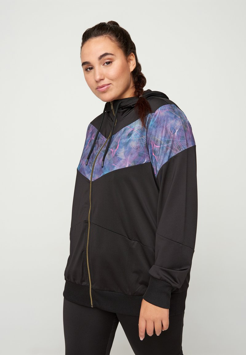 Active by Zizzi - MIT PRINTDETAILS - Training jacket - black
