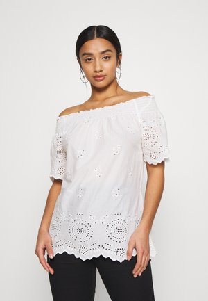 ONLNEW SHERY LIFE EMBANG - Blouse - cloud dancer