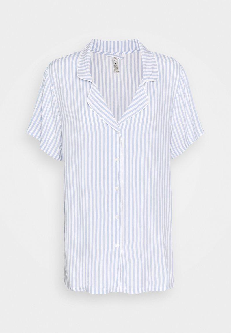 Lindex - NIGHT STRIPE - Pyjama top - blue
