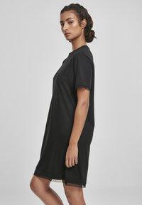 Urban Classics - BOXY LACE  - Jersey dress - black - 3
