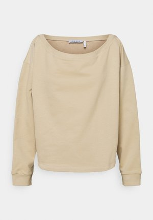 OFF SHOULDER LOUNGE - Sweatshirt - beige