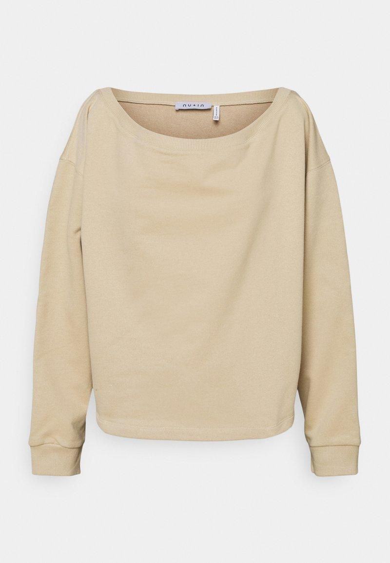 NU-IN - OFF SHOULDER LOUNGE - Sweatshirt - beige