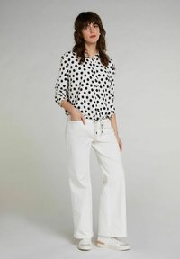 Oui - Button-down blouse - offwhite black - 1