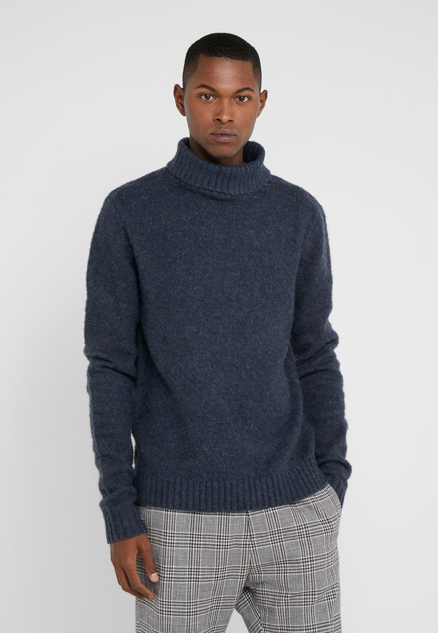 HELIOT BRUSHED TURTLENECK - Jersey de punto - dark navy