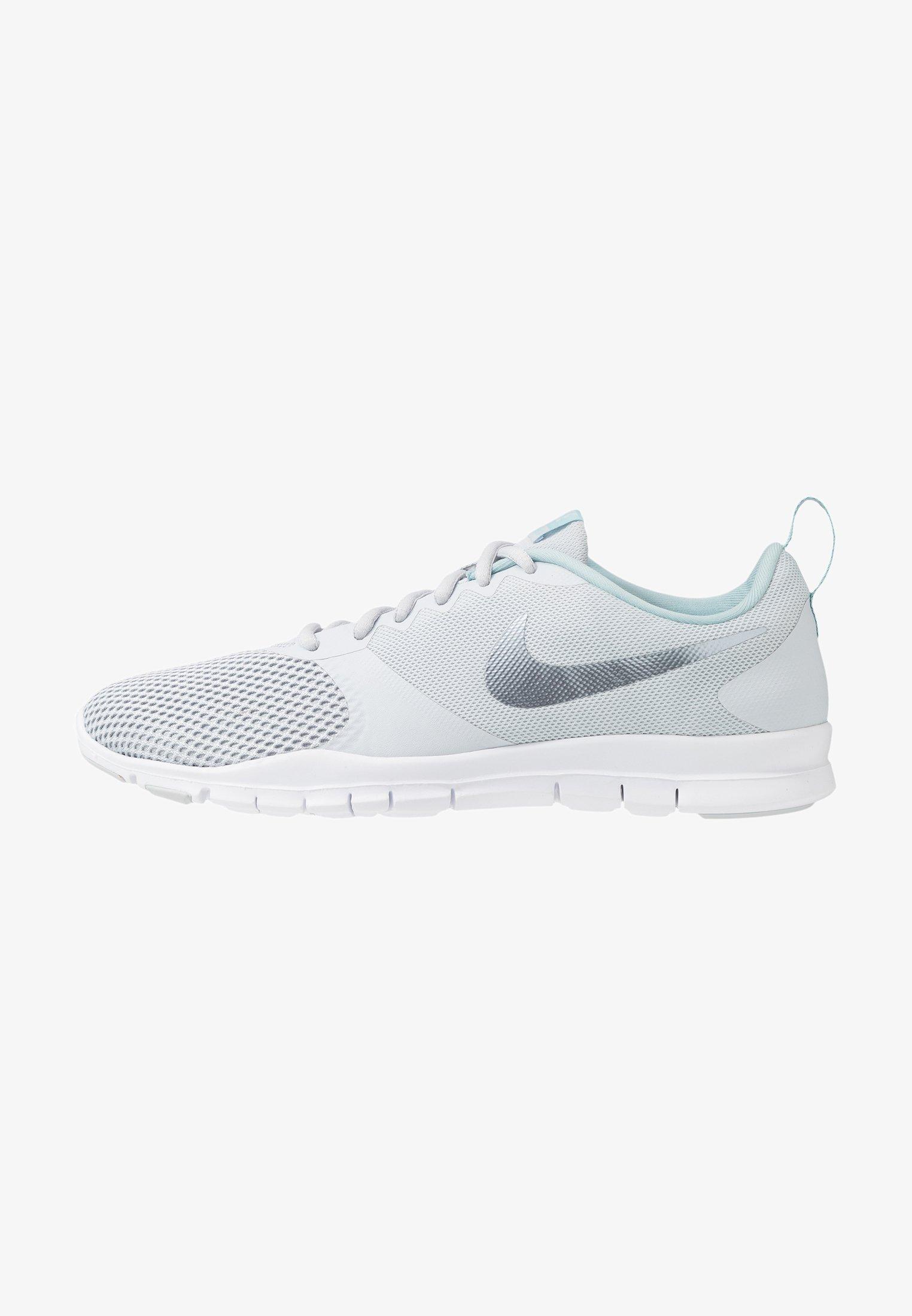 Emular fuegos artificiales Lío  Nike Performance WMNS NIKE FLEX ESSENTIAL TR - Sports shoes - pure  platinum/metallic cool grey/ocean cube/white - Zalando.ie