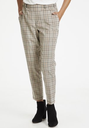 KAJESLA - Trousers - black/thrush check