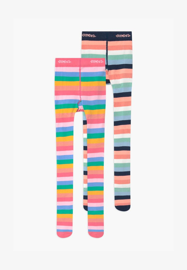 RAINBOW STRIPE 2 PACK - Strumpbyxor - sorbet pink/tinte