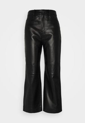 CULOTTE - Leather trousers - black
