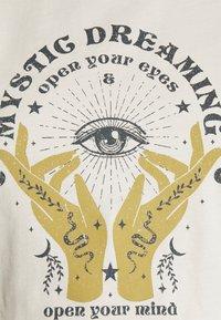 ONLY - ONLSYMBOL MIND - Print T-shirt - pumice stone - 4