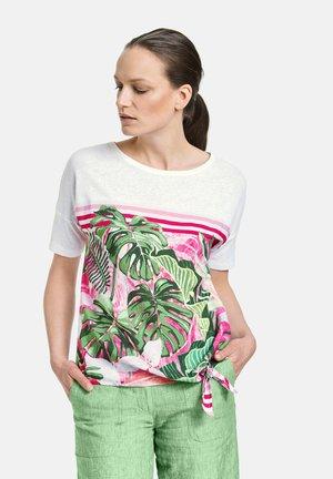 T-shirt z nadrukiem - weiß/weiß