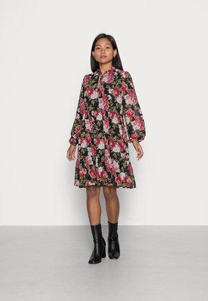 VIURA TULLAN NEW FLOWER DRESS - Day dress - black