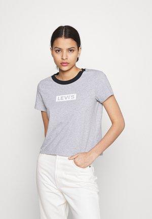 GRAPHIC SURF TEE - Print T-shirt - heather grey