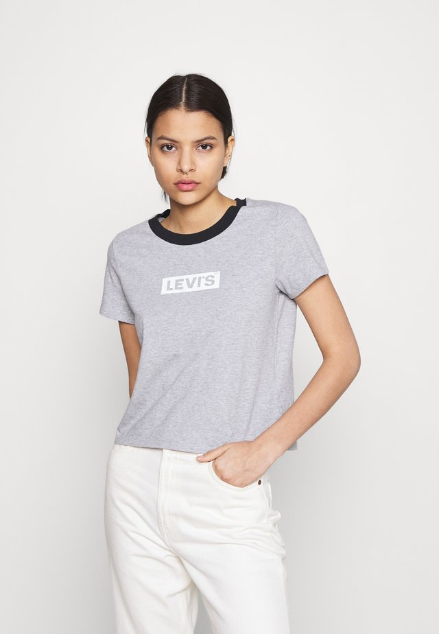 GRAPHIC SURF TEE - T-shirt con stampa - heather grey