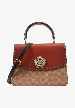 TOP HANDLE - Handbag - tan/black