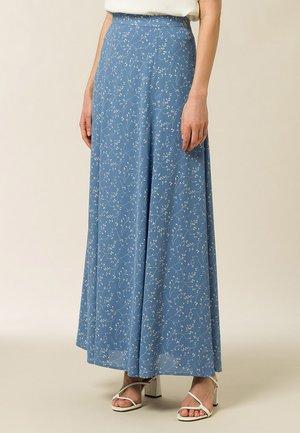 Maxi sukně - aop - leaf sea blue