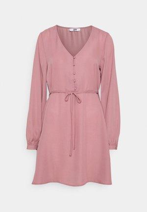 JDYHERMINE SHORT BUTTON DRESS  - Denní šaty - nostalgia rose
