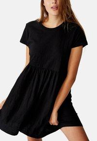 Cotton On Curve - TINA BABYDOLL  - Jersey dress - black - 6