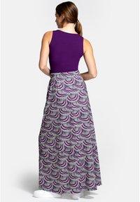 HotSquash - BOX - Áčková sukně - purple kimono print - 2
