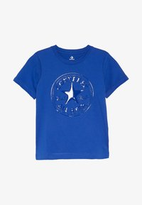 Converse - CHUCK PATCH SHINY TEE - Print T-shirt - blue - 2