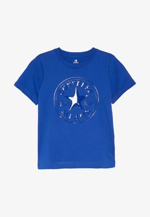 CHUCK PATCH SHINY TEE - T-shirt print - blue