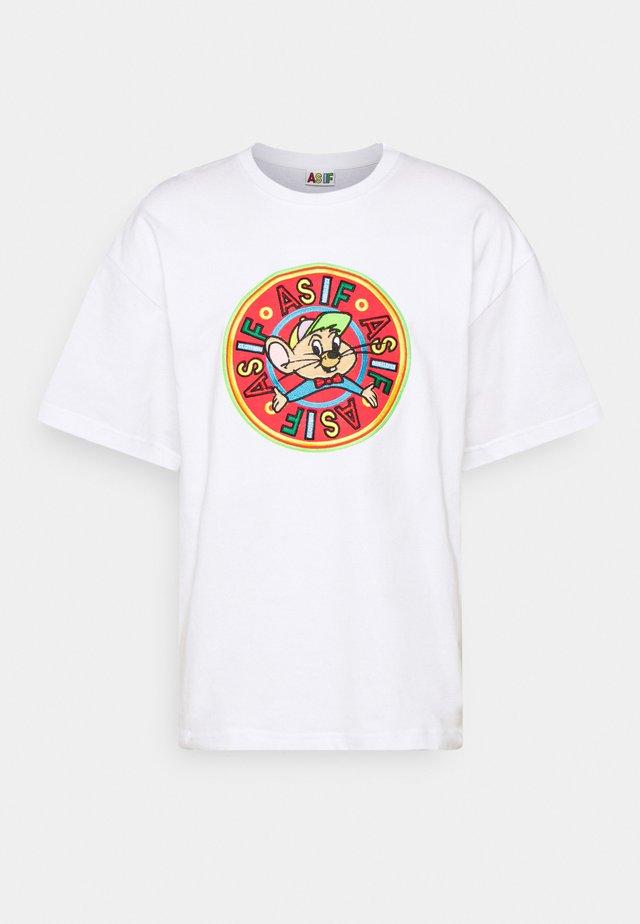 RIZZO MOUSE UNISEX - T-shirt print - white