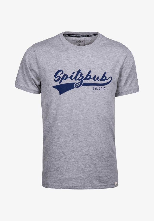 JULIUS - Print T-shirt - grey