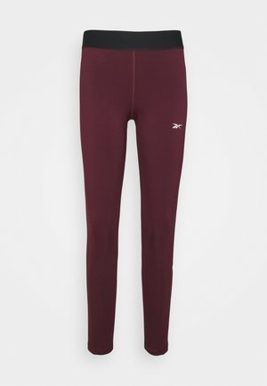 LINEAR LOGO - Tights - maroon