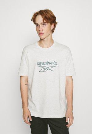 VECTOR TEE - Print T-shirt - chalk