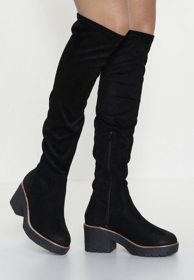 BENJI - Kozačky nad kolena - black