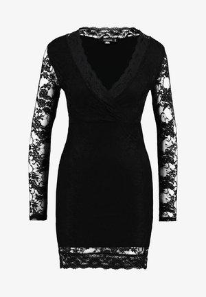 FRIDAY PLUNGE BODYCON MINI DRESS - Cocktailkjole - black