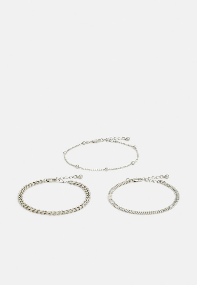 PCFIBO BRACELET 3 PACK - Rannekoru - silver-coloured
