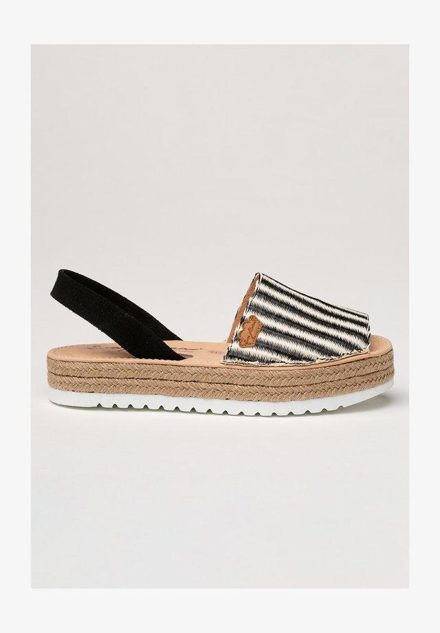 IBICENCA PALMIRA - Sandalias con plataforma - black/white