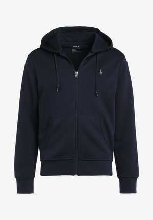 DOUBLE TECH - veste en sweat zippée - aviator navy