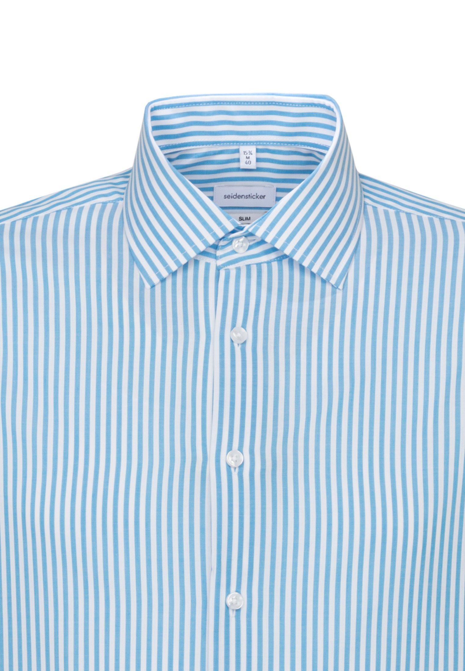 Seidensticker Slim Fit - Overhemd Petrol
