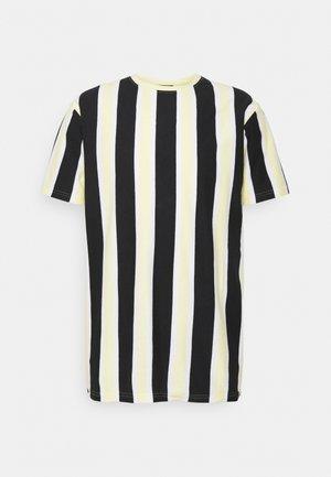 RAMIREZ TEE - Print T-shirt - black/pastell yellow/white
