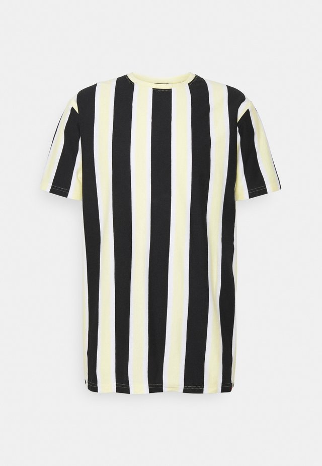 RAMIREZ TEE - T-shirt imprimé - black/pastell yellow/white