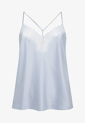 SATINTOP MIT SPITZE 30212204 - Pyjama top - light blue