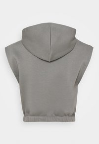 Nly by Nelly - SHORT SLEEVE HOODIE - Sweatshirt - gray/blue - 1