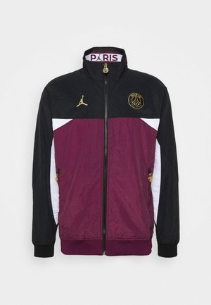 PARIS ST GERMAIN ANTHEM JACKET - Club wear - black/bordeaux/white