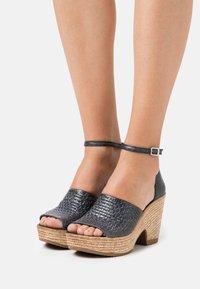 Felmini - MESHA - High heeled sandals - black - 0