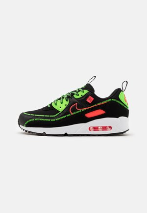 AIR MAX 90 UNISEX - Baskets basses - black/flash crimson/green strike/white/dark grey