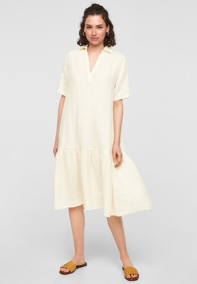 Korte jurk - yellow melange