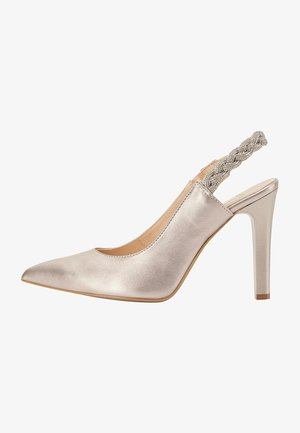 Classic heels - silver nude