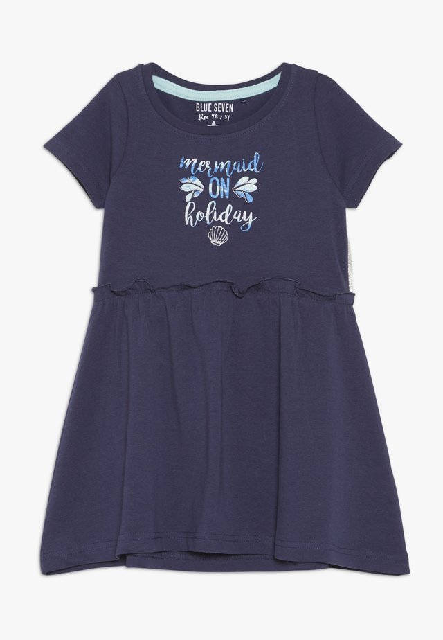Žerzejové šaty - dunkelk blau