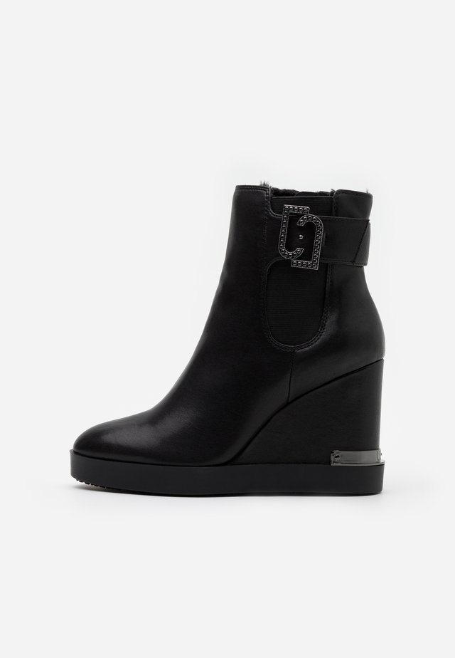 GLEN  - High heeled ankle boots - black