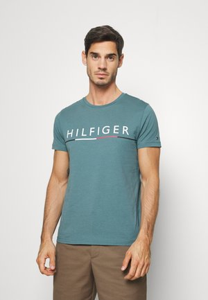 GLOBAL STRIPE TEE - T-shirt print - green