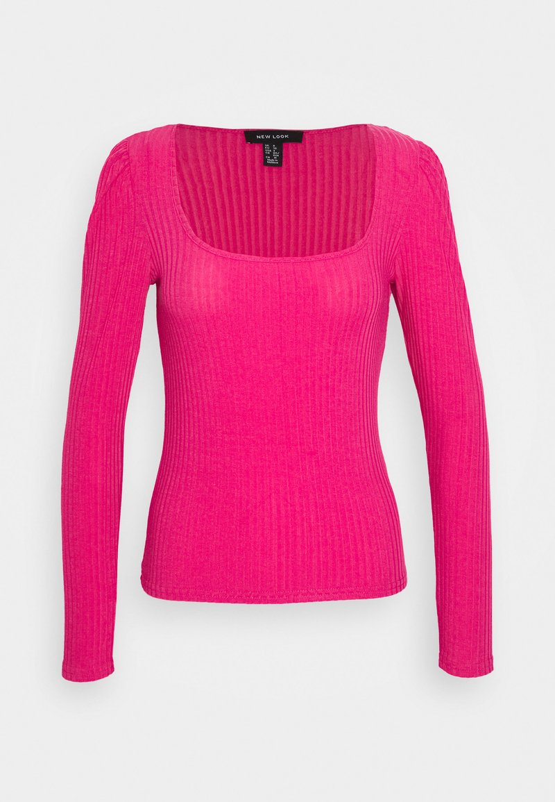 New Look - T-shirt à manches longues - bright pink