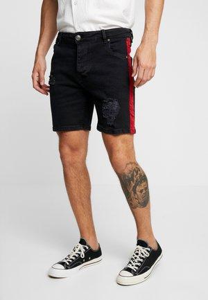 JASON - Denim shorts - charcoal