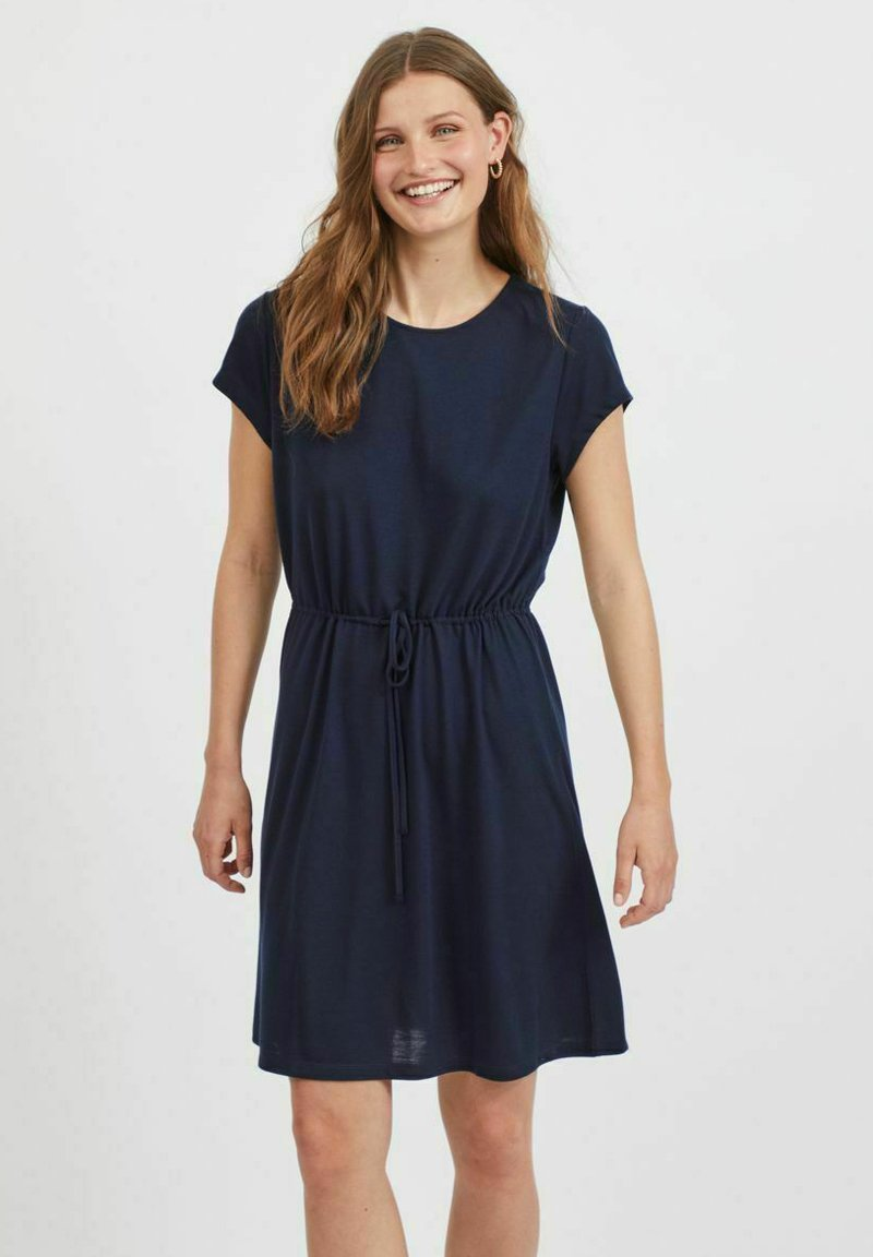 Vila - VIMOONEY STRING - Jersey dress - navy blazer