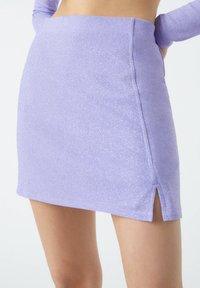 PULL&BEAR - A-line skirt - purple - 4